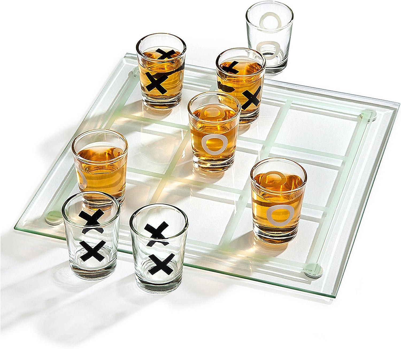 Godinger Studio Max 57% OFF Tic Tac Set Drinking Game half Toe