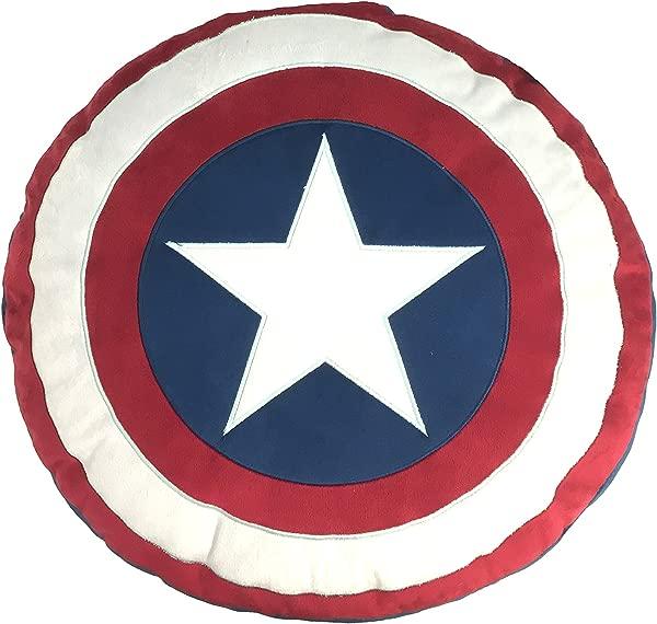 漫威美国队长内战盾牌装饰枕头