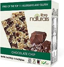 Libre Naturals Chocolate Chip Chewy Granola Bars - Vegan, Gluten-Free, Kosher, Nut-Free, Non-GMO, Dairy-Free, No Artificia...