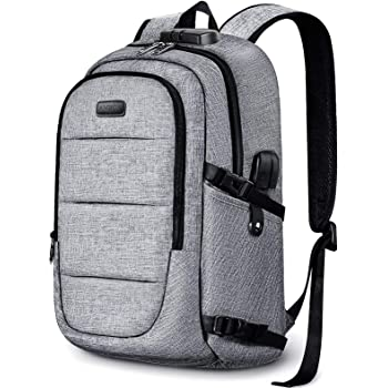 Travel Laptop Backpack, Anti Theft Business Laptop Backpack with USB Charging Port and Headphone Interface