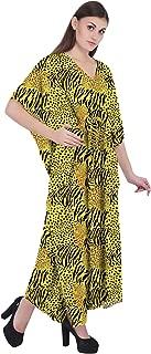 RADANYA Animal Print Cotton Kaftan Swimwear Swimsuit Beachwear Bikini Coverup Caftan Dress