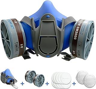 BHTOP Half Facepiece Reusable Respirator GM2000 Half Face Cover Facepiece Twin Filter Respirator & A1 Cartridges Against D...