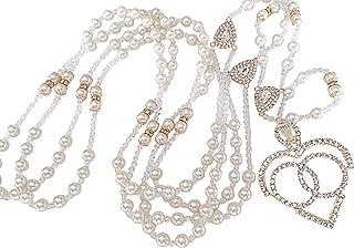 Non-catholic Wedding Lasso Ivory Color Swarovski Pearls Gold Plated With Rhinestones Heart/Lazo De Boda No Catolico