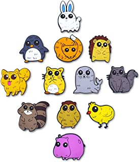 BeAwesome Cute Animals Fridge Magnets Set of 12 pcs 3D Refrigerator Magnets Cartoon Animal Decorative Magnets for Whiteboards Office Cabinets Students Lockers (Set#1)