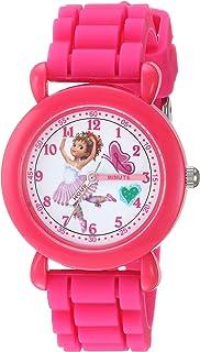 ساعة بنات فانسي نانسي كوارتز مع سوار من السيليكون، زهري، 13.8 موديل WDS000594