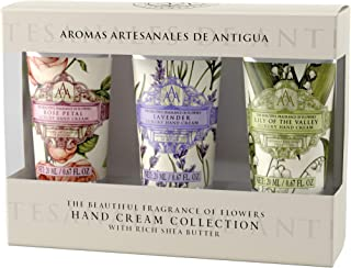 AAA Floral - Mini Hand Cream Gift Set, with Rich Shea Butter (3 x 20 ml Hand Creams in Rose Petal, Lavender & Lily of the Valley)