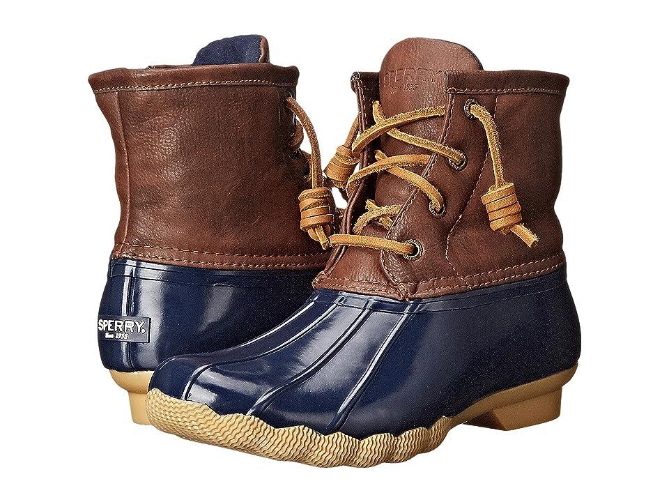 Sperry Kids Saltwater Boot (Little Kid/Big Kid) (Navy) Kids Shoes