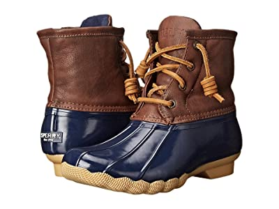 Sperry Kids Saltwater Boot (Little Kid/Big Kid) (Navy) Kids Shoes
