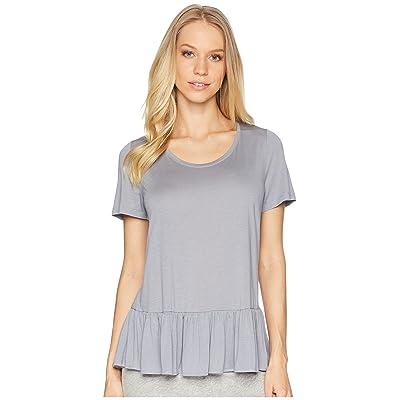 Hanro Malva Short Sleeve Shirt (Lilac Grey) Women