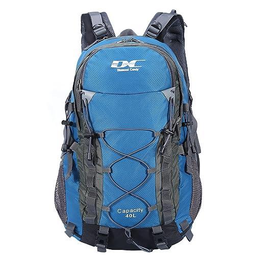 8791184298deb Diamond Candy Wasserdichter Rucksack 40L Leicht Erwachsene Wanderrucksack  Herren Damen Outdoorrucksack für Wandern Trekking Klettern Camping