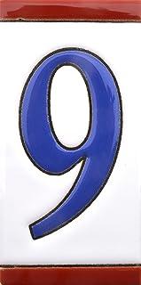 Números casa. Numeros y letras en azulejo de ceramica,