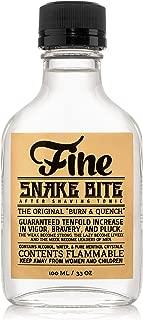 Fine Snake Bite Men Aftershave -A Splash Of Classic Barbershop Aftershave for Modern Men - The Wet Shaver's Favorite