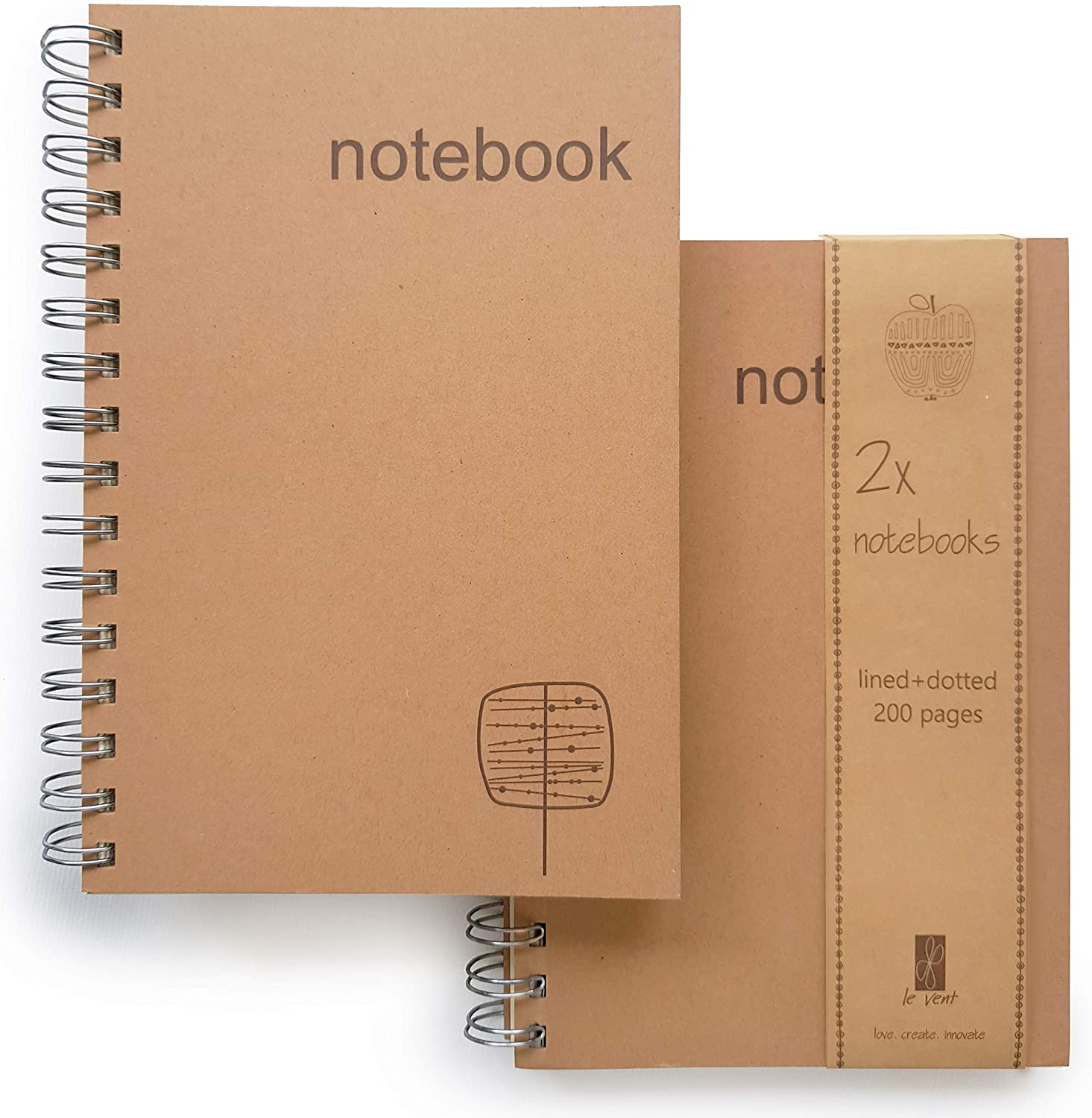 A5 Spiral Notebooks – Free shipping Set of and Journal Dot 2 Alternative dealer Lined