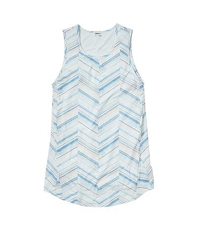 Marmot Estel Dress Short Sleeve (Steel Onyx Chevron Dots) Women