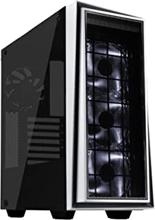 SilverStone SST-RL06BR-PRO - Carcasa de ordenador para juego Red Line Midi Torre ATX, Rendimiento silencioso con alto flujo de aire, negro con embellecedor rojo