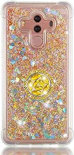 FAWUMAN Custodia Huawei Mate 10 PRO Squillo della Base del Telefono TPU Brillantini Diamond Liquido Sabbie Mobili Bumper C...