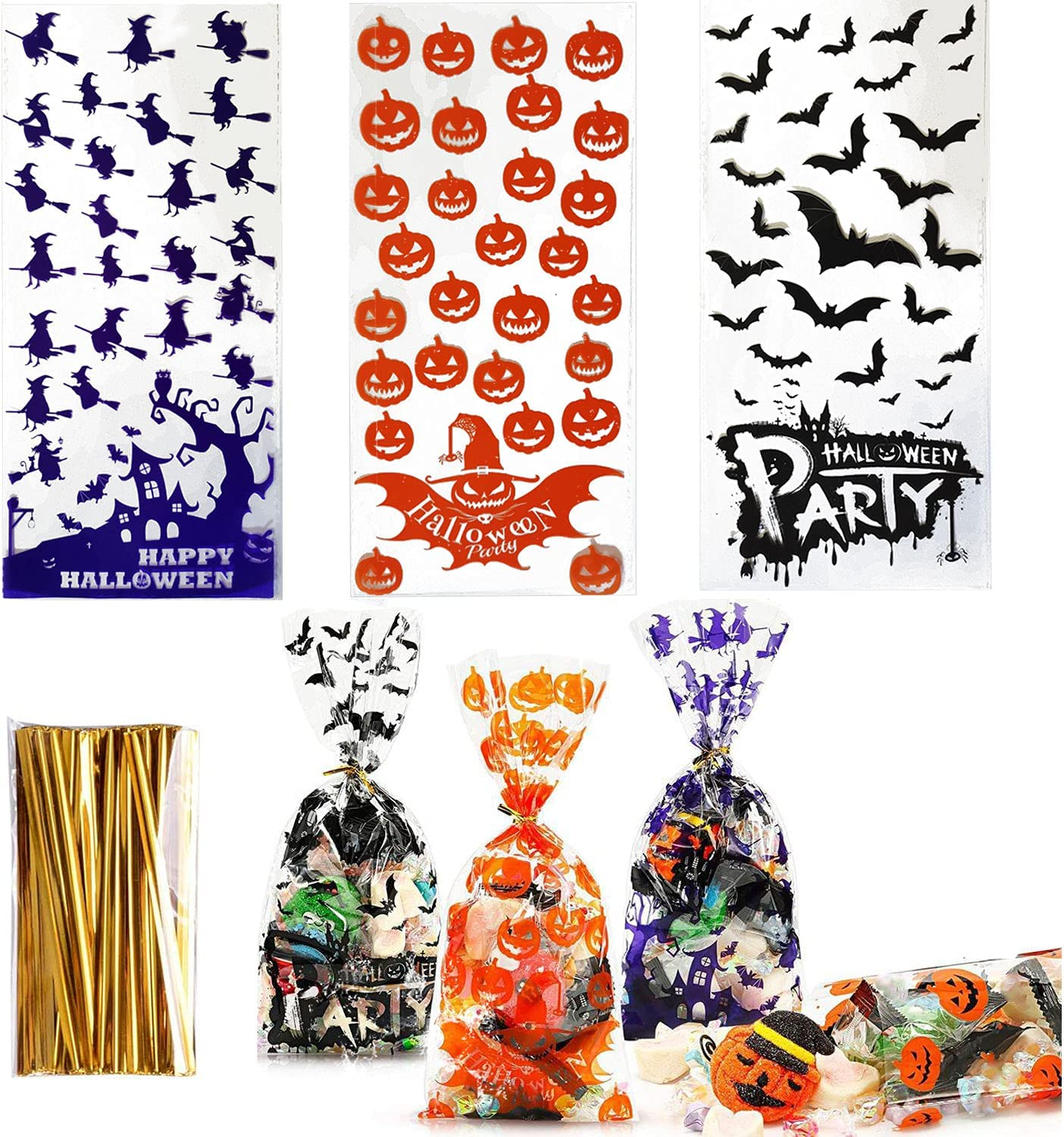 Halloween Treat Bags 150 Ba Pcs Candy specialty shop Inventory cleanup selling sale