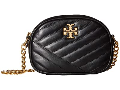Tory Burch Kira Chevron Camera Bag (Black) Handbags