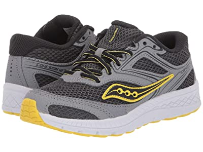 Saucony Kids S-Cohesion 12 LTT (Little Kid/Big Kid) (Grey/Yellow) Boys Shoes