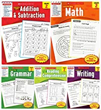 Scholastic Success With - Grade 2 Complete Set (5 Books): Addition&Subtraction 2, Math 2, Grammar 2, Reading Comprehension...
