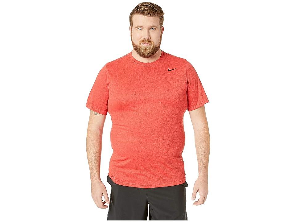 7446dc68 Nike Big Tall Legend 2.0 Short Sleeve Tee (Light University Red  Heather/Black)