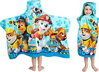 "Best Franco Kids Bath and Beach Soft Cotton Terry Hooded Towel Wrap, 24"" x 50"", Paw Patrol Blue Reviews"
