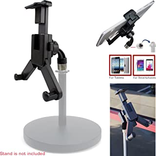 """ChargerCity 360° Swivel Smartphone Tablet Mount Holder w/ 5/8"""" Tripod Mic Microphone Stand Adapter for Apple iPad Pro Air ..."""