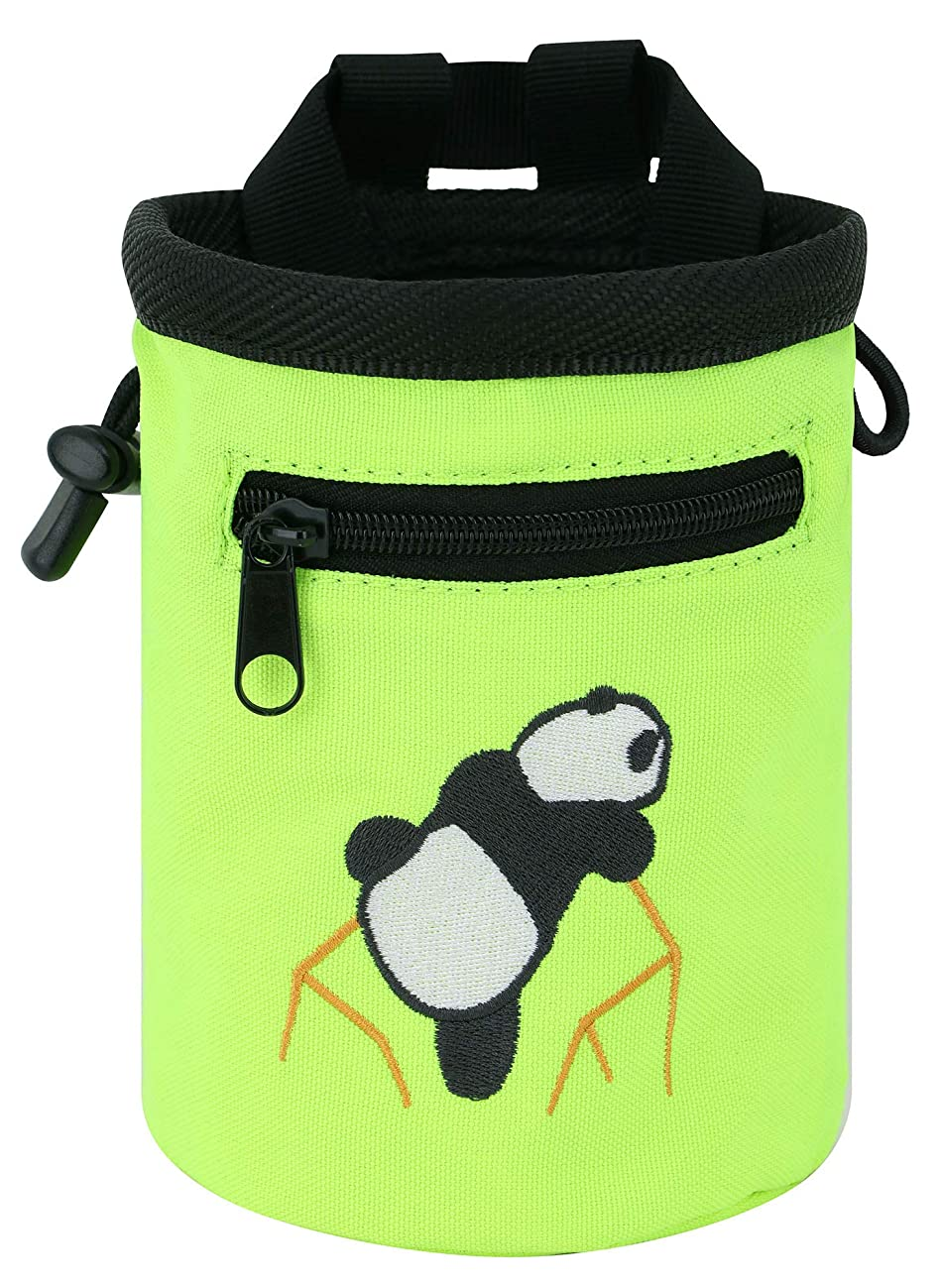 AMC Rock Climbing Panda Design Chalk Bag with Adjustable Belt