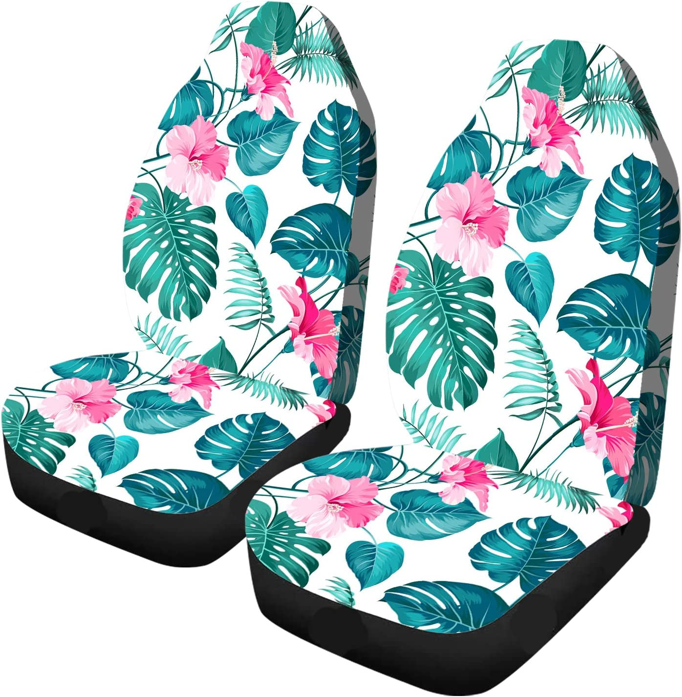 Car Seat Covers Tropical Cash special Complete Free Shipping price Hibiscus Hawaii Flowers Summer Lea Palm