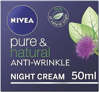 NIVEA Pura y Natural Anti-Arrugas Crema de Noche - 50 ml