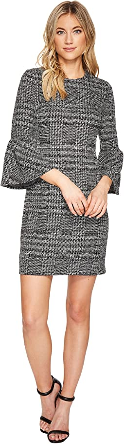 Calvin Klein - Plaid Print Bell Sleeve Dress CD7P286L