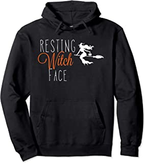 Resting Witch Face Halloween Pullover Hoodie