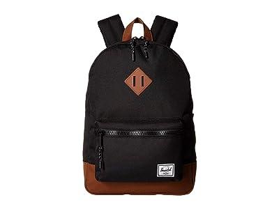 Herschel Supply Co. Kids Heritage Youth (Big Kids) (Black/Saddle Brown) Backpack Bags
