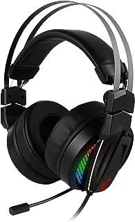 MSI Immerse GH70 Binaural Diadema Negro Auricular con micrófono - Auriculares con micrófono (PC/Juegos, 7.1 Canales, Binaural, Diadema, Negro, Multicolor)