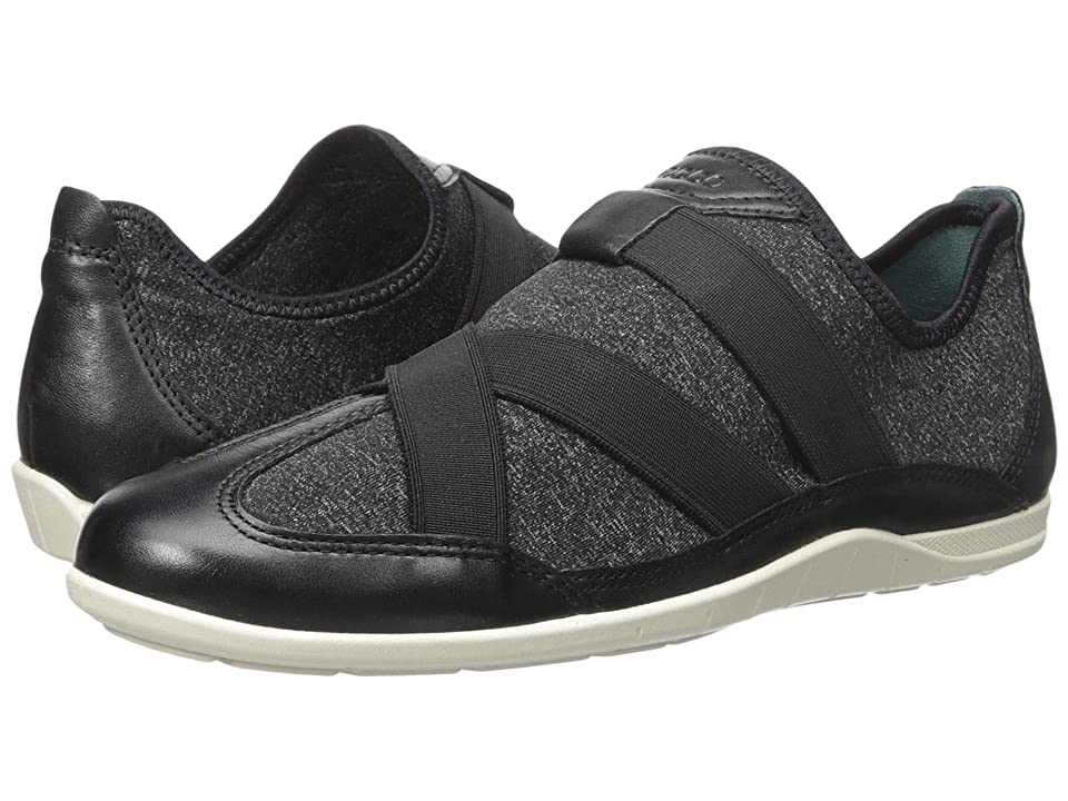 ECCO Bluma Slip-On (Black/Black/White/Biscaya) Women