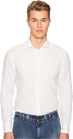 Linen Spread Collar Shirt