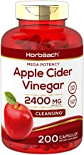 Apple Cider Vinegar Capsules   2400mg   200 Pills   Non-GMO, Gluten Free   by Horbaach