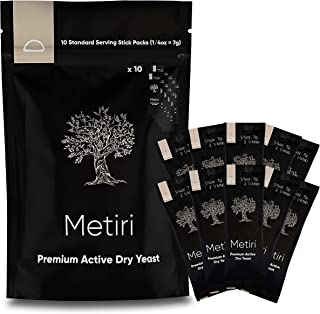 Sponsored Ad - Metiri Foods Premium Active Dry Yeast - One Pouch Includes 10 Standard Serving Stick Packs (7g = 1/4 oz per...