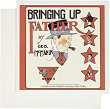3dRose 1921 cartoon comic book cover Bringing Up Father with Maggie and Jiggs Series 4 - Greeting Cards, 6 x 6 inches, set of 6 (gc_151949_1)