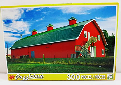 Puzzlebug 300 Piece Puzzle - Big rot Country Barn by Puzzlebug