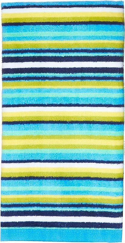 Fiesta Horizontal Stripe Kitchen Towel Turquoise