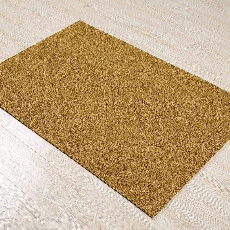 Doormat Indoor Outdoor, Entrance Channel PVC Non-Slip Backing Floor Mat Cleanable Suitable for Front Doors, Back Doors, Hallways, Kitchens, Offices and Garages-60x150Cm(24x59Inch)-Yellow