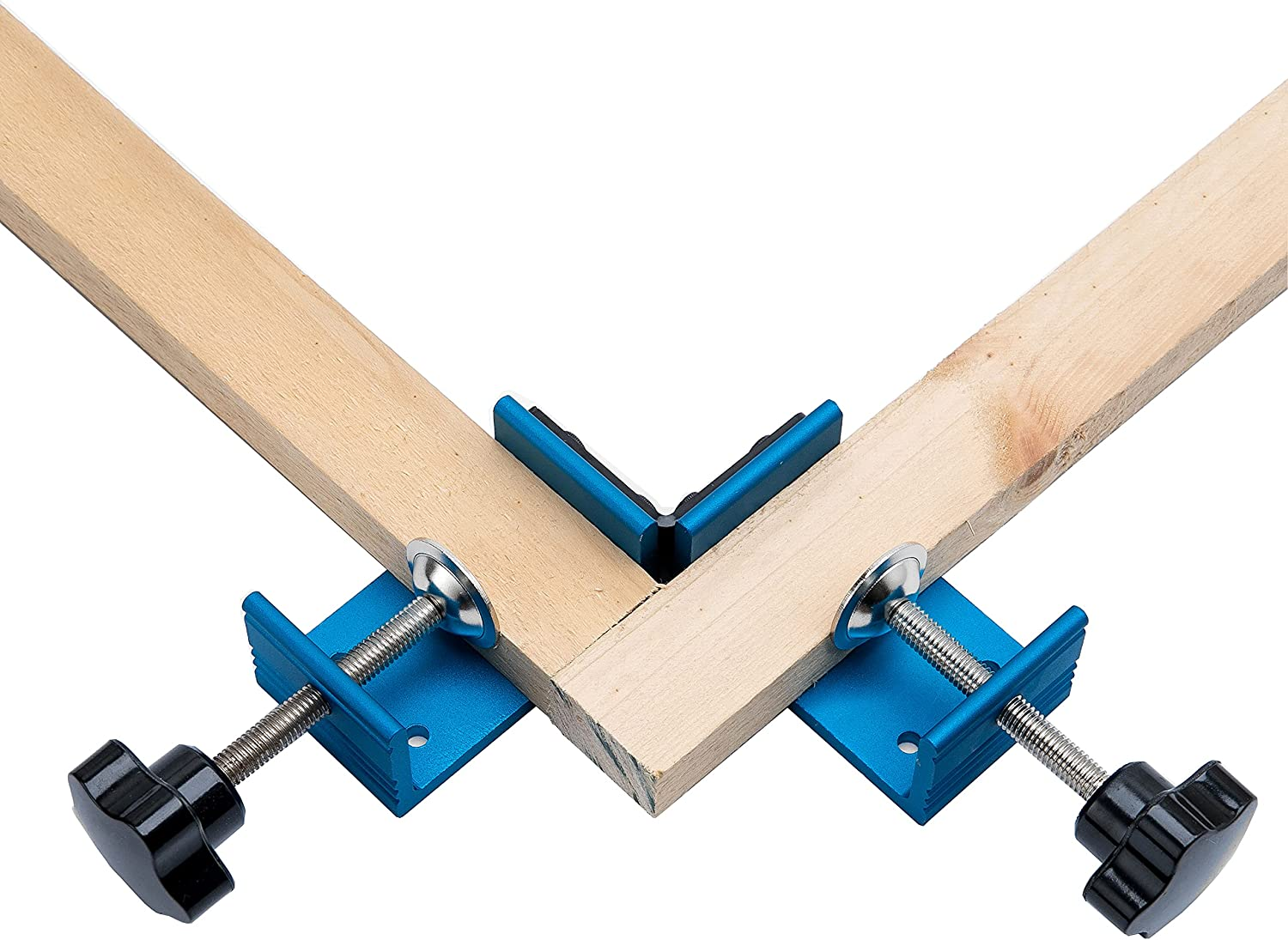 Right Angle Clamp ,90 Degree Corner Clamp with Adjustable Double Handle Corner Clamp for Woodworking the Working of Framing Drilling Welding Doweling Making Cabinet Installing Furniture