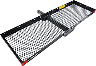 Highland 1042000 Hitch Mounted Cargo Carrier - Black