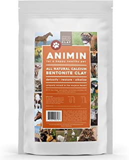 Earth's Living Animin Calcium Bentonite Clay for Pets | Alkalizing Detox Powder Relieves Arthritis, Diarrhea etc | Cleanses Toxins, Parasites, Bacteria | Supports Digestive and Immune System