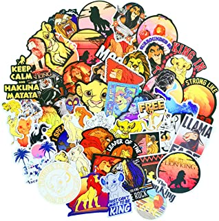 Film Cartoon Stickers The Lion King for Water Bottles Big 50-Pack Cute,Waterproof,Aesthetic,Trendy Stickers for Teens,Girls Perfect for Laptop,Phone,Travel Extra Durable 100% Vinyl Decals(Lion King))