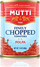 Mutti —14 oz. 12 Pack of Finely Chopped Tomatoes from Italy's #1 Tomato Brand. Adds fresh taste to recipes calling for Cru...
