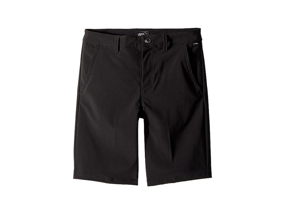 Vans Kids Authentic Decksider Boardshorts (Little Kids/Big Kids) (Black) Boy