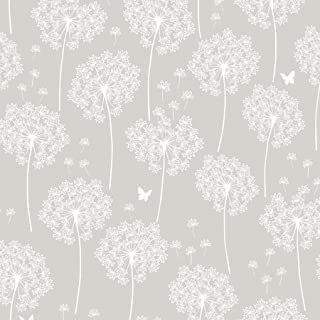 Wall Pops NU1651 Dandelion Gray Peel And Stick Wallpaper