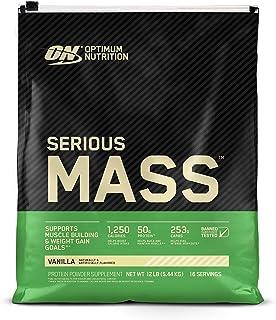 Sponsored Ad - Optimum Nutrition Serious Mass Weight Gainer Protein Powder, Vanilla- 12 Pound